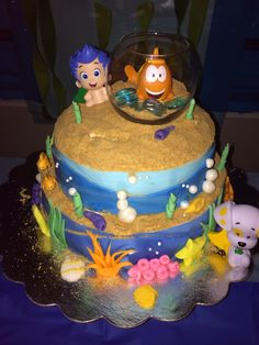 bubble guppies. cake. birthday. kids Bubble Guppies Cake, Bubble Guppies Birthday, 1st Birthday Parties, 2nd Birthday, Kid Parties, Cake Cookies, Cupcake Cakes, Cupcakes, Underwater Birthday