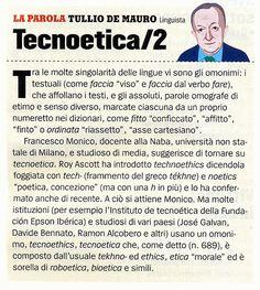 Tecnoetica: una ulteriore analisi di De Mauro