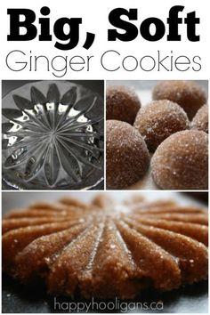 Big Soft Ginger Cookies - Happy Hooligans