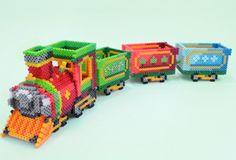 Tåg med vagnar 3D