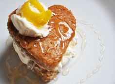 Heart-Shaped Citrus Honey Cake Ice-Cream Sandwiches with Lemon Curd & Drizzled Honey