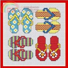 `Flip Flops cross stitch