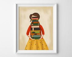 Stack of Books Print (Part of 35 Clever Gifts Any Book Lover Will Want To Keep For Themselves)