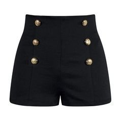 High Waisted Pin Up Shorts Black ❤ liked on Polyvore featuring shorts, bottoms, high-rise shorts, stretch shorts, pinup shorts, pin up shorts and stretchy shorts