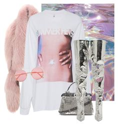 """Untitled #3690"" by xirix ❤ liked on Polyvore featuring Marni, Adam Selman, Fendi, Balenciaga and Sunday Somewhere"