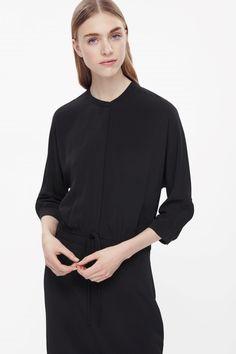 COS Drawstring waist shirt black dress