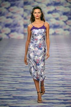 Silk slip dresses have already been making appearances on the red carpet this year but House of Holland is heralding them as a big hit for next season #LFW #Inspiredby