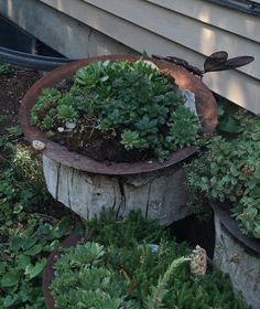 plow disc fountain Farmstead Relics Pinterest