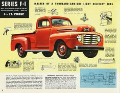Carros y Clasicos - Ford Pickups 1948 Ford Pickup, 1952 Ford Truck, Old Ford Trucks, Old Pickup Trucks, Autos Ford, Ford F Series, Old Fords, Us Cars, Vintage Trucks