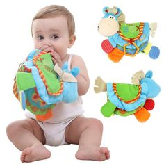 COLOURFUL CLAMP ON PRAM BABY SOFT TOY FLYING ANIMALS PLAY GYM MOBILE RATTLE CRAK