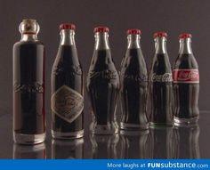 Evolution of coke bottles