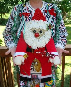Quite possibly the ugliest Christmas sweater, ever!