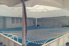 Canberra's crew swimming pool on the forward deck ~ I spent many happy hours here.