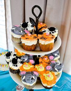 Animal fun cupcakes