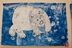 """One of Deep Space Sparkle's polar bear projects on """"It's Elementary"""". Love seeing these projects!"""