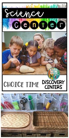 Want to add choice time discovery centers to your schedule in your preschool, kindergarten, or first Kindergarten Routines, Kindergarten Classroom Organization, Kindergarten Centers, Preschool Kindergarten, Classroom Ideas, Classroom Design, Science Writing, Science Art, Stem Skills