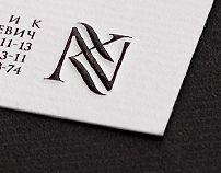 Corporate & Brand Identity, NK monogram by Evgeny Golovach, via Behance