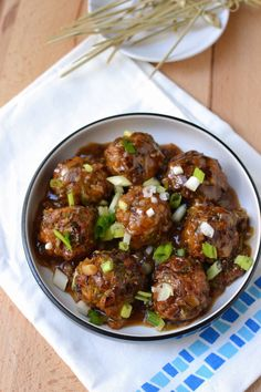 Recipe to make Low Fat Vegetable Manchurian using appe aka ableskiver pan. Perfect side dish to an Indo-Chinese meal.