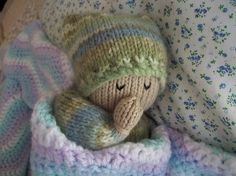 Snuggle Dolly knitting pattern - PDF instant download