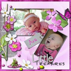Made with the Little Treasures kit by HappyScrapArts at Wilma4Ever Store