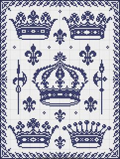 Free cross stitch patterns - Crown Schemi a punto croce gratuiti - Crown Gratis patrones de punto de cruz - Corona Δωρεάν σταυρό σ. Cross Stitch Samplers, Cross Stitch Charts, Cross Stitch Designs, Cross Stitching, Cross Stitch Embroidery, Hand Embroidery, Embroidery Patterns Free, Cross Stitch Patterns, Crochet Cross