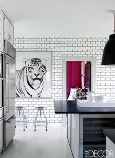 Chic black  white #kitchen