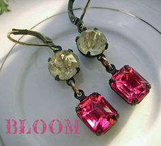 Vintage Earrings Estate Style Earrings April by deborahmcgovern, $15.00