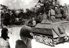 SdKfz 250 carrying Vânători de munte (mountain troops) in Transylvania, late The Romanian Army used both Soviet and German equipment extensively during the war. Pin by Paolo Marzioli Michael I Of Romania, Operation Barbarossa, Red Army, Panzer, Library Of Congress, Armored Vehicles, World War Ii, Troops, Wwii