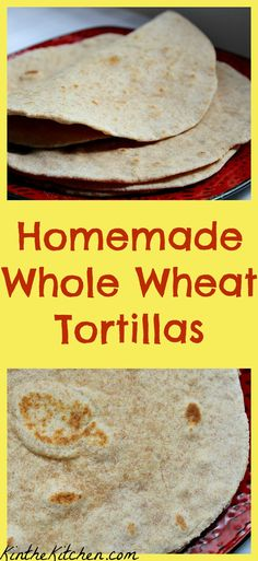 These homemade whole wheat flour tortillas are easy to make and taste so much better than store bought!