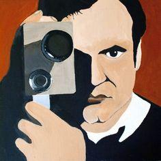 Quentin Tarantino - Mattia Recupero - Acrilico su tela 50x40
