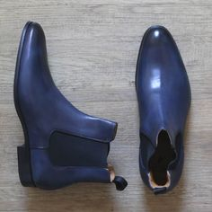 Blue Chelsea Boots - made in Italy Blue Chelsea Boots, Men's Shoes, Shoe Boots, Mens Attire, Casual Styles, Dress Code, Timeless Fashion, Mens Fashion, Fashion Trends