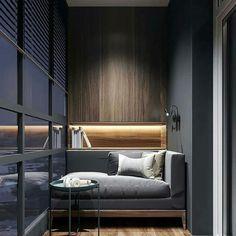 Ideas For Exterior House Gray Interiors Cozy Studio Apartment, Apartment Balcony Decorating, Apartment Design, Studio Apartments, Modern Interior Design, Interior Architecture, Design Hall, Small Balcony Decor, Balcony Ideas