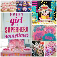 Amazing-Girls-Superhero-Party-Ideas-B.-Lovely-Events.jpg 650×650 pixeles