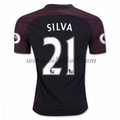 Billiga Fotbollströjor Manchester City 2016-17 Silva 21 Kortärmad Borta Matchtröja