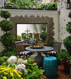 Apartment patio garden ideas tiny balcony outdoor spaces Ideas for 2019 Outdoor Spaces, Outdoor Living, Outdoor Decor, Outdoor Ideas, Patio Ideas, Yard Ideas, Garden Furniture, Outdoor Furniture Sets, Furniture Plans
