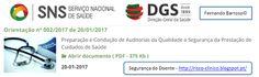 Segurança do Doente: SD241 - Orientação DGS - Preparação e Condução de ...