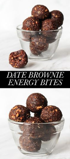 Salted Date Brownie Energy Bites