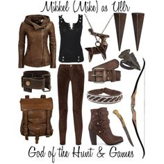 Outfit inspired by The Almighty Johnsons character Mikkel (Mike), the incarnation of Ullr, God of the Hunt and God of Games by shadowsintime on Polyvore
