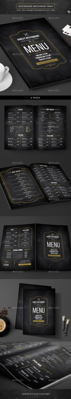 Blackboard Restaurant Menu Template PSD. Download here: http://graphicriver.net/item/blackboard-restaurant-menu/16692139?ref=ksioks