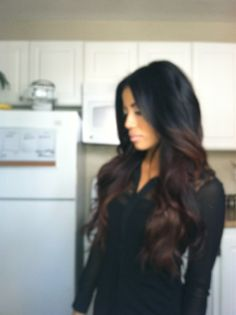 "dark ombre.. side//If i did dye my hair, I would do the ""Ombre"" style. And if I did Ombre, I would do this dark ombre. in love. it's settled."