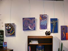 Original Paintings by Amy Vandyke~! Join us at Retro for Art Hop tonight~! 5-9pm for some local art, a glass of wine, and some snacks~!