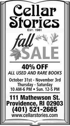Cellar Stories Bookstore BIG SALE! #deals