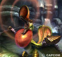 El Qurupeco es un Wyvern Pájaro de plumaje único. Conocidos por usar sus órganos vocales torácicos para imitar los llamados de otros monstruos, primero convocándolos, luego usando la distracción para huir. Escupen un peligroso fluido corporal combustible.