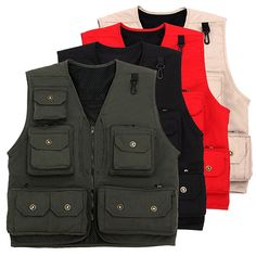 Sale 13% (39.19$) - Outdoor Multi-pocket Photography Reporter Directing Fishing Functional Vest