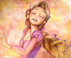 Rapunzel from Disney's Tangled-- Kingdom Dance scene fanart Disney Rapunzel, Old Disney, Disney Fan Art, Repunzel Tangled, Disney And More, Disney Love, Disney Magic, Disney And Dreamworks, Disney Pixar