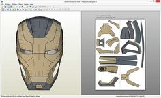 Iron Man Mark 41 Bones helmet Pepakura file
