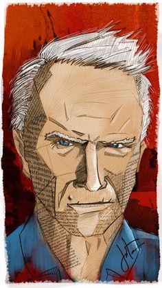 """Clint"" illustration. #Behance #illustration #ClintEastwood #DirtyHarry"