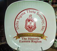Delta Art, Delta Sigma Theta, Regional, Sorority, Boston, Diva, Celebration, Plates, Let It Be