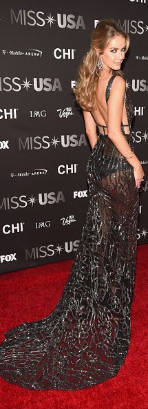 Stunning Miss Universe runner up Olivia Jordan in a black couture - All For Hairstyles DIY Black Evening Dresses, Evening Gowns, Olivia Jordan, Sexy Gown, Gala Dresses, Miss Dress, Celebrity Outfits, Strapless Dress Formal, Beautiful Dresses