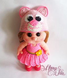 PATTERN  Baby doll with an cat hat crochet by HavvaDesigns on Etsy